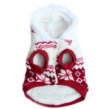 Pets Dog Winter Coat Fleece Snowflake Printed Dog Puppy Clothes Appral Jacket XS S M L XL Hot(China)