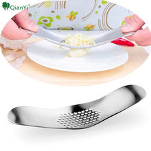 2017 Novelty kitchen accessories new design ginger crusher chopper cutter Stainless steel garlic press grinding slicer(China)