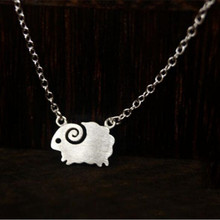 Hot Sale Atmosphere Cute Animal 925 Silver Jewelry Personality Beautiful Sheep Wool Fashion Female Necklace H259(China)
