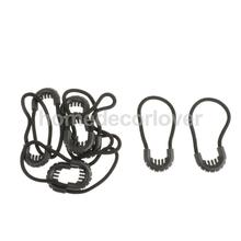 10x Zipper Pulls Cord Rope Ends Lock Zip Slider Replacement Fastener Loops For Clothing/Bags Apparel Accessories - 3 Colors