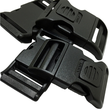 100pcs per lot 25mm plastic side release strap buckle for pet collar/bags curved lockable buckles(China)