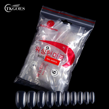 TKGOES 600 Round head Short Shape Nails Tips Round Full Cover Oval 3Color Tips False Nail Art Tips Acrylic Fake Nails Manicure