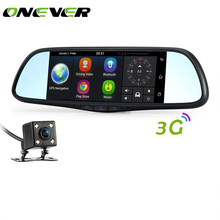 "7"" 3G Car DVR Rearview Mirror Full HD 1080P Dash Cam Android 5.0 GPS Bluetooth Wifi Camcorder Dual Lens Video Recorder(China)"