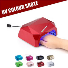 Nail Dryer&FREE SHIPPING original box&36W LED CCFL Light Dimond Shape Gel Curing Lamp Popular Drying Gel Polish Tools