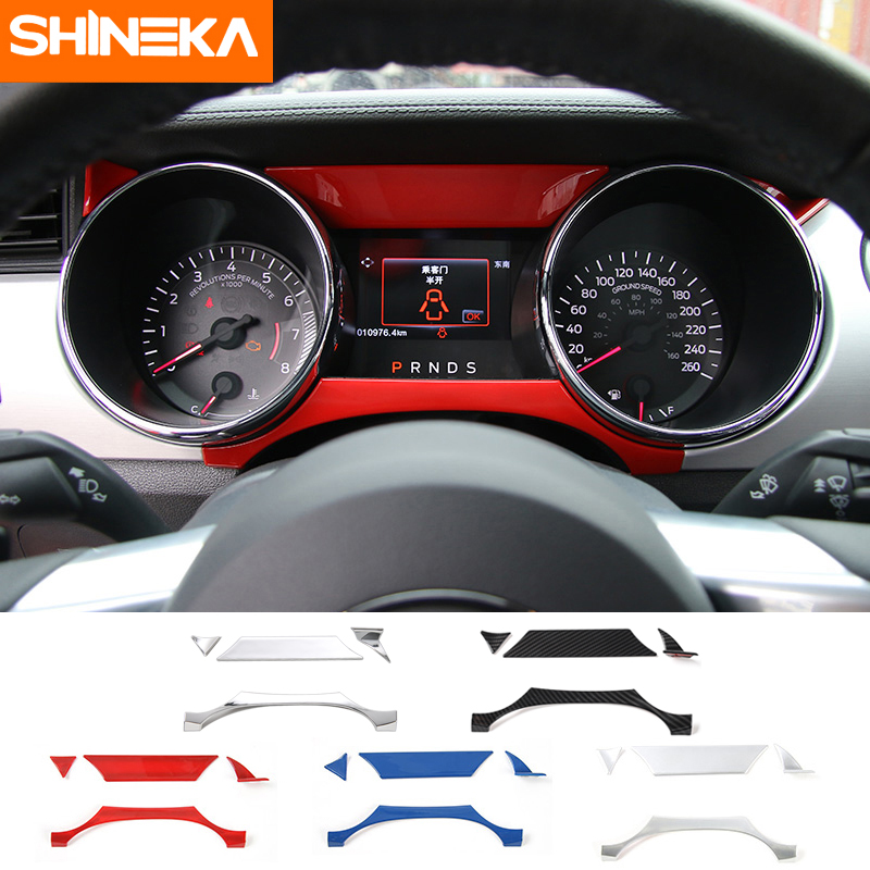 SHINEKA Car Styling Interior Cover Instrument Panel Trim Dashboard Trim  For Ford Mustang 2015+<br>
