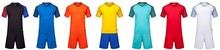 new men blank soccer sets adult football jerseys men soccer kits sports suits running uniforms can customized name and number