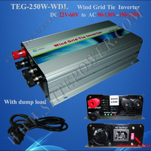 250w grid tie inverter for wind turbine generator 22-60v dc to ac 110v 220v wind grid tie inverter(China)