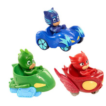 3pcs/lot Pj Car Cartoon Characters Catboy Owlette Gekko Cloak Toys Car Set Pj Toy Action Figure Model Toy Plastic Dolls For Kids