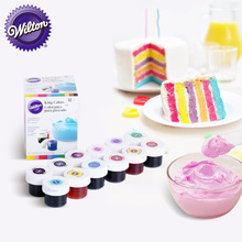 12 color america brand baking cake coloring pigment cream paste food baking tool color natural icing colorful(China)
