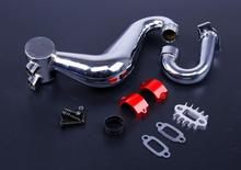 New Rovan Baja Tuned Pipe Silence Exhaust Pipe Set Baja Engine Spare Parts Hpi Km Baja 5b SS Pipe Up To 1 HP More Power