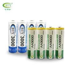 Rechargeable Battery AA 3000mAh 4 X BTY NI-MH 1.2V Rechargeable 2A Battery Baterias Bateria Batteries MicroData Best Quality