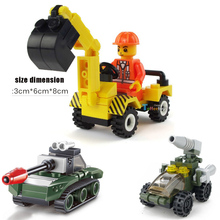 2017 Excavator truck assembly plastic bricks child toy car Model assembled suite Wood blocks and amount