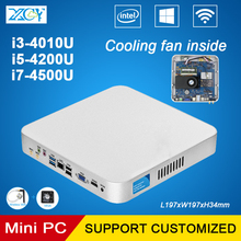 XCY Mini Computer Intel Core i3-4010U i5-4200U i7-4500U Dual Cores Mini Desktop PC HTPC Office PC Cooling Fan Motherboard