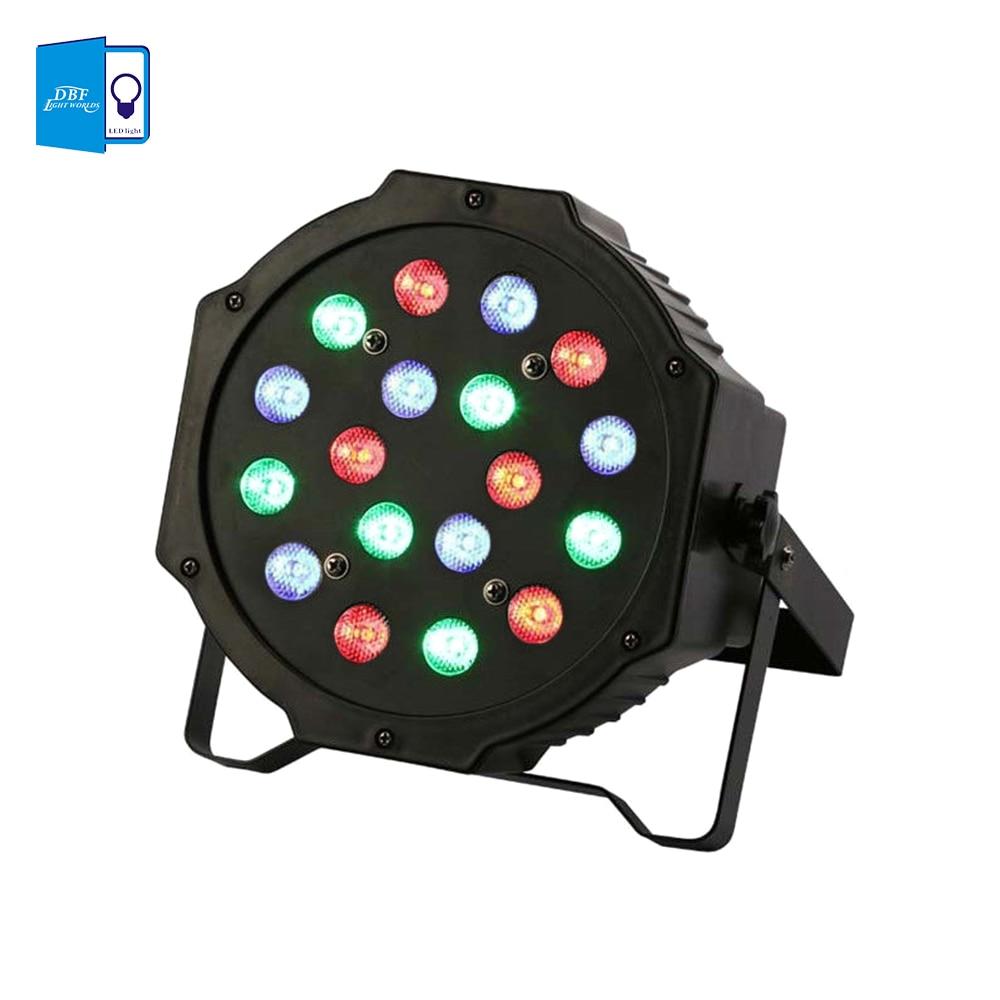 [DBF] High Power 18*3W Led Stage Light RGB Par Light DMX512 Master Slave Led Flat Equipments Controller for DJ Party KTV Disco<br><br>Aliexpress