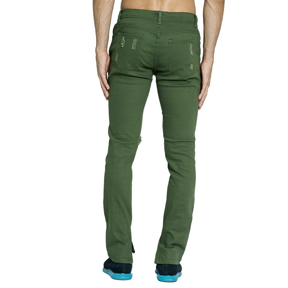 HTB1s5zAclUSMeJjSszeq6AKgpXaS Army Green Ripped Jeans Fashion