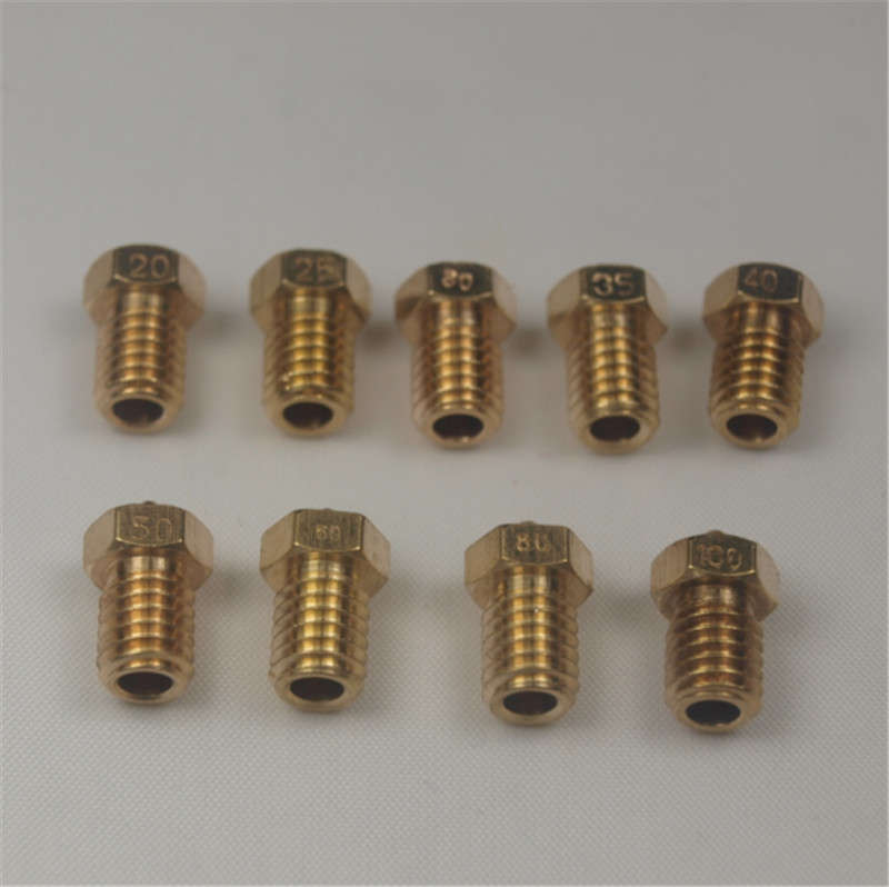 ultimaker 2/ 2 + Extended + 9pcs*. nozzle kit/set for Olsson block(9 sizes nozzle) 1.75/3 mm<br><br>Aliexpress