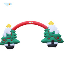 Free Shipping! 10*5m Inflatable Christmas Arches Custom Made Inflatable Arch Inflatable Christmas Tree Arch