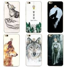 Tree Soft Clear TPU Phone Case xiaomi redmi 4x 4a note5a note4x 5s 5s mi6 note3 Wolf Animal Coque Print Cover Free Shipping