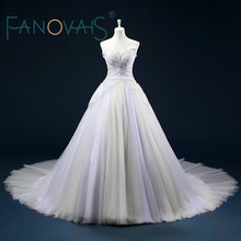 Buy Real Pictures Shoulder Tulle Ball Gown Pleats Beading Wedding Dresses Chapel Train Zipper Back Custom made Bridal Dresses for $215.10 in AliExpress store