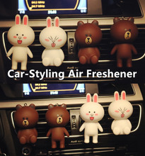 Car-Styling Car Air Freshener 100 Original Interior Decoration Solid Perfumes Air Condition Vent Clip Air Cleaner Line Cute Doll(China)