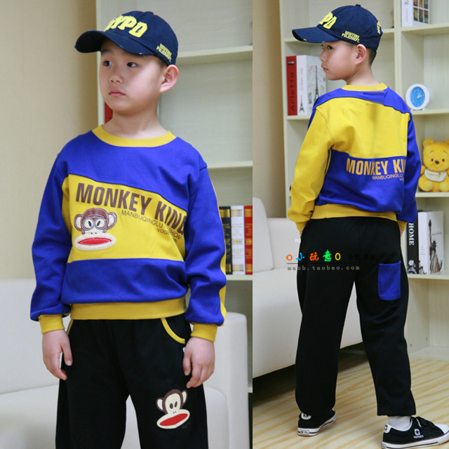 80% children in the childrens clothing cotton suit boy spring 2017 new spring T-shirt BOYS PANTS two piece<br><br>Aliexpress
