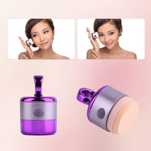 Puff Vibrating Make up Foundation Applicator Tool Boxed With 2 Extra Puffs Top Sale