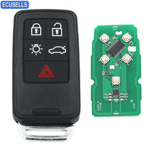 New Replacement 5 Buttons Remote Key Smart Car Key Fob for Volvo XC60 S60 S60L V40 V60 434Mhz with ID46 Chip and Uncut Blade