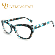 IVSTA Cat Eye Women Glasses Frame Solid Handmade Acetate Spring Hinge Spectacles Transparent Eyeglasses Luxury Optical Degree