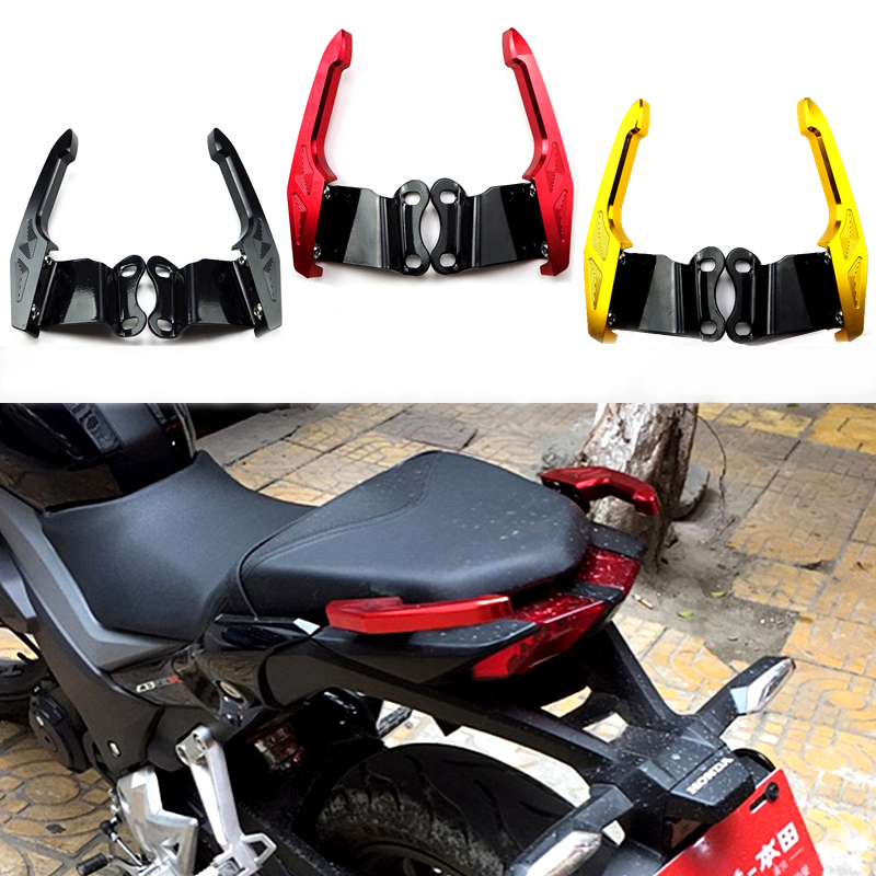 CNC Aluminum Motorcycle Rear Grab Motorbike after the mailbox handrails For Honda CB190R CB190F<br>