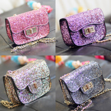 High Quality New Hot Sale Fashion Baby Girls Shine Small Mini Size Crossboby Purse Wallet Handbags  Messager Bags