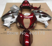 Hot Sales,Cheap Fairing For Suzuki GSXR1300 Hayabusa 1999-2007 Red and Silver Sport Motorcycle Fairings (Injection molding)(China)