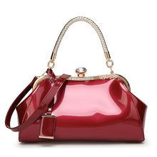 Patent Leather Women Shoulder Bags Lady Handbags Luxury Evening Women's Messenger Bags Famous Brands Female Tote Bag Top handle(China)