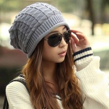 New Arrival Fashion Handmade Knitting Hats Female Winter Warm Crochet Caps Skullies For Lady Women Casual Beanies(China)