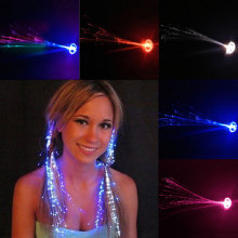 Party Colorful Flash LED Hair Braid Hairpin Luminous Braid Optical Fiber Wire Event & Party Supplies FP8(China)