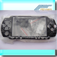 Black Replacement Parts Full Set Housing Shell Case for PSP 2000 Slim PSP2000 with Buttons kit LOGO Free shipping(China)