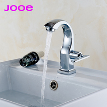 Jooe Modern Single cold water tap brass chrome bathroom faucet Deck Mounted Basin Faucets torneira torneira banheiro robinet