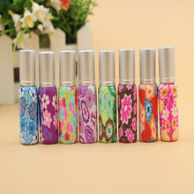 50pcs/Lot Hot Sales Pump 10ml Clay Glass Perfume Bottle Travel Polymer Clay Fimo Empty Spray Scent Bottle Pump Case Random Color