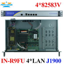 1U Rack J1900 quad core processor 4 LAN Multi WAN fanless motherboard design Firewall Network Security network server device(China)