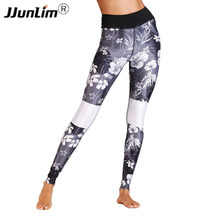 Buy Women Leggings Fitness Black White Printed Yoga Pant Leggings Sport Pants Fitness Legging Running Tight Pant Sport Trousers for $15.99 in AliExpress store