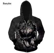S to 3XL 3D printed woff head pullover men women hoodies sweatshirt hip hop warm spring autumn winter jacket coat tracksuits
