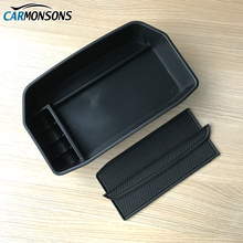 Carmonsons for Lexus LX570 LX 570 2007+ Central Armrest Storage Box Container Holder Tray Accessories Car Organizer Car Styling