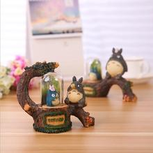 Creative Micro Landscape With LED Lamp Cartoon Miyazaki Resin Decoration Home Furnishings Totoro E053
