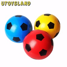 UTOYSLAND 1 pcs Diameter 6 Inch Kids Inflatable Knobby Plastic Football Kid Educational Toy - Random Color