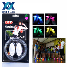 1 Pair Light Luminous Shoe Laces Glow Colored Led Shoelace 3-stalls adjustable Hip-hop, Walking dance Drop shipping Wholesale