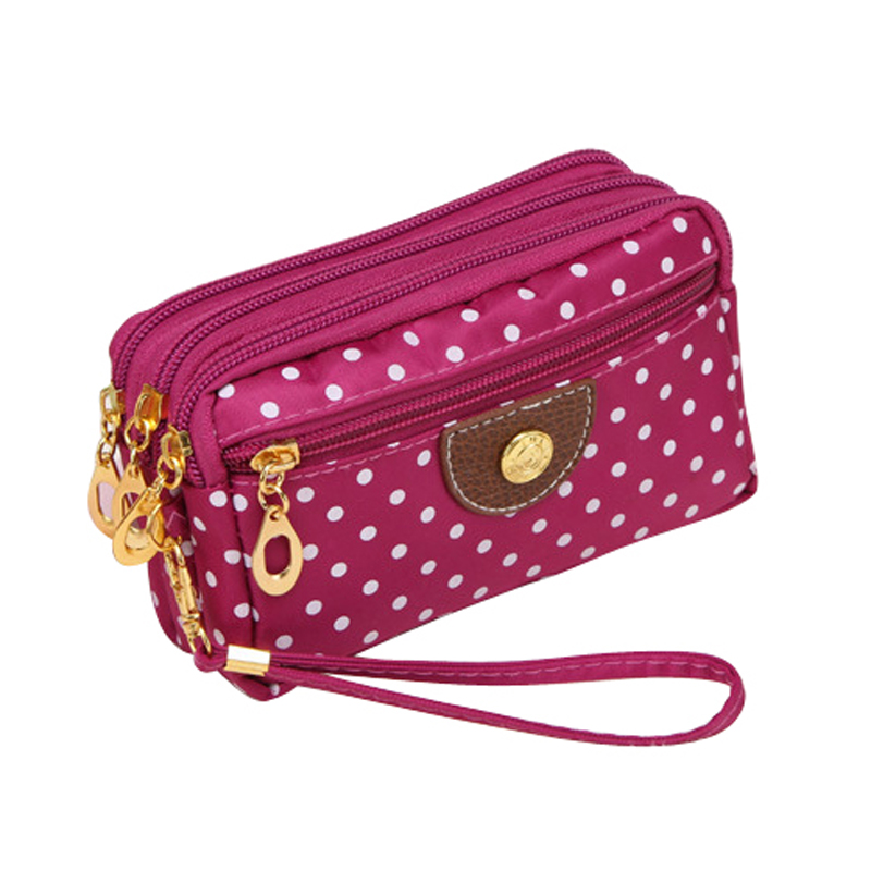 Multilayer Dot Canvas Coin Purse Key Phone Wallet Storage Bag Girls Women Money Bag For Party Bag organizer W1<br><br>Aliexpress