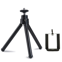 "Mini 360 Rotatable Stand Adjustable Tripod Mount with Holder Cellphone width 3.3"" under for iPhone 6 7 6s Plus 5S 5C 5 4S 4 iPod"