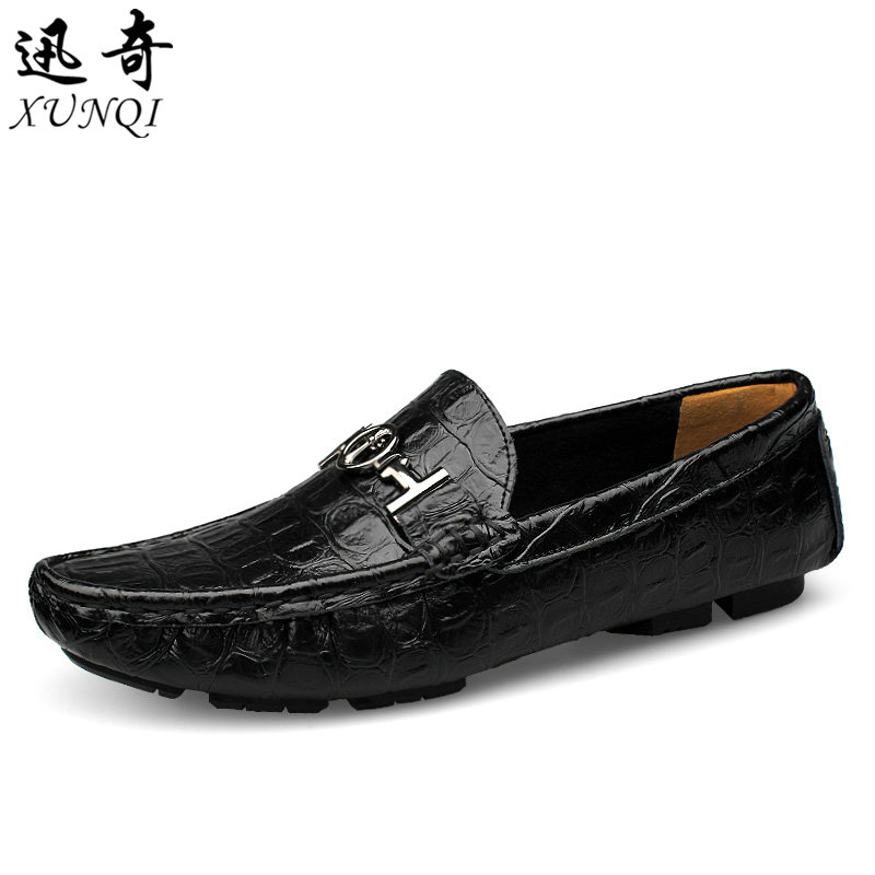 Spring Peas driving shoes big yards England casual shoes men crocodile men genuine leather loafers flats large plus size 37-47<br><br>Aliexpress