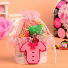 baby dress stick on the basket wedding candy gift packaging bags chocolate bag 24pcs(China)