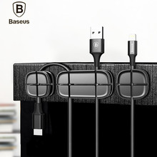 Baseus Cross Peas Cable Clip Desktop USB Cable Winder Wire Organizer Cable Cord Holder Management System Wire Earphone Winder