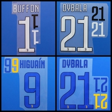 New D.COSTA DYBALA HIGUAIN MARCHISIO CHIELLINI DYBALA BUFFON football number font print, Hot stamping Soccer patches badges